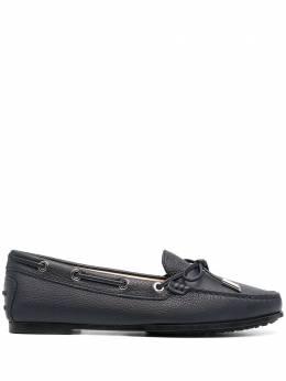 Tod's мокасины на шнуровке с закругленным носком XXW74B050305J1