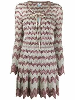 M Missoni трикотажное платье мини с узором зигзаг 2DG005902K0094