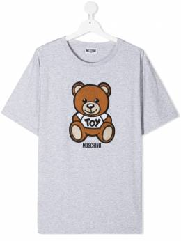 Moschino Kids футболка с вышивкой Toy Bear HOM02XLBA10