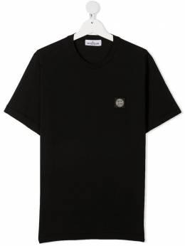 Stone Island Junior футболка с нашивкой-логотипом 741620147
