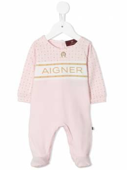 Aigner Kids комбинезон для новорожденного с логотипом 57201