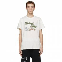 Helmut Lang Beige Saintwoods Edition HL Taxi T-Shirt K10DM512