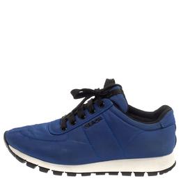 Prada Sport Blue Nylon Low Top Sneakers Size 37.5 374437