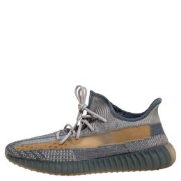 Yeezy x Adidas Grey/Beige Knit Boost 350 V2 Israfil Sneakers Size 48 375278