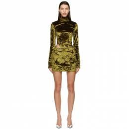 Misbhv Green Velour Hooked Dress 120W061