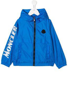 Moncler Enfant пуховик с капюшоном и логотипом 1A7232068352