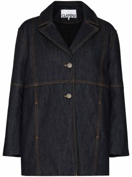 Ganni джинсовая куртка свободного кроя F5466