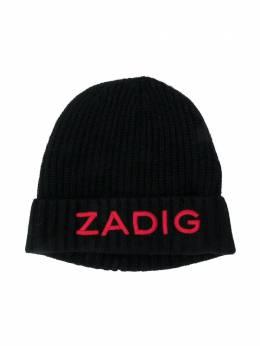 Zadig & Voltaire Kids шапка бини с логотипом X21013