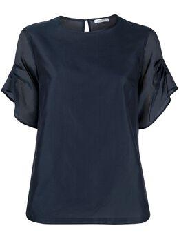 Peserico блузка с оборками на рукавах S0641408372