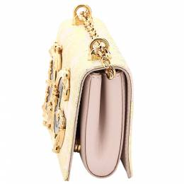 Dolce&Gabbana White Leather DG Girl Phone Bag 375072