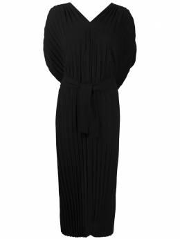 Henrik Vibskov платье в рубчик с V-образным вырезом PSS21F304