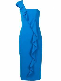 Ginger & Smart платье миди Prospective с оборками S20522A