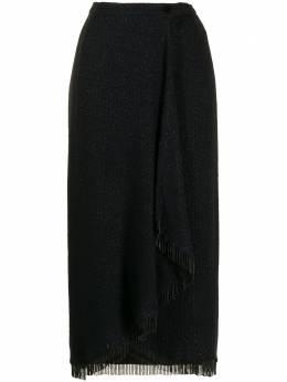 Valentino Pre-Owned юбка миди с бахромой из бисера WW12506