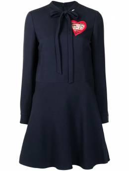 Valentino Pre-Owned платье мини с принтом и длинными рукавами WW12715VTINODRS