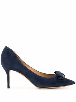 Salvatore Ferragamo Pre-Owned туфли-лодочки с бантом и заостренным носком WS2888SFSH