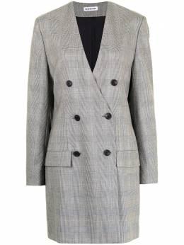 Balenciaga Pre-Owned двубортное платье-блейзер в клетку WW12581BCGDS