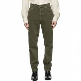 Helmut Lang Green Strap Jeans K10DM203