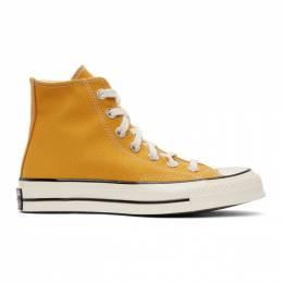 Converse Yellow Chuck 70 High Sneakers 162054C