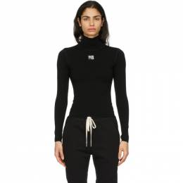 T By Alexander Wang Black Turtleneck Bodycon Top 4KC2201012