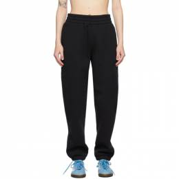 T By Alexander Wang Black Terry Foundation Lounge Pants 4CC1204061