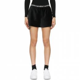 T By Alexander Wang Black Stretch Corduroy Shorts 4CC1204025