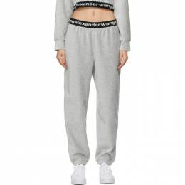 T By Alexander Wang Grey Stretch Corduroy Lounge Pants 4CC1204024