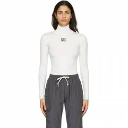 T By Alexander Wang White Turtleneck Bodycon Top 4KC2201012