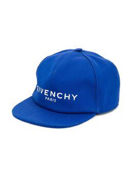 Givenchy Kids кепка с вышитым логотипом H2103181F