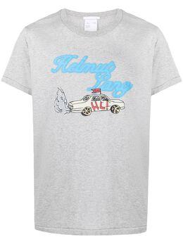 Helmut Lang футболка HL Taxi с логотипом K10DM512