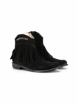 Monnalisa ботинки с бахромой 8C60176723
