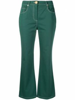 Boutique Moschino укороченные расклешенные брюки A03091120