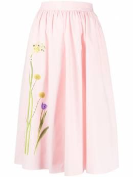Boutique Moschino юбка А-силуэта с цветочным принтом A01141122