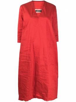 Uma Wang платье миди с V-образным вырезом UP5021