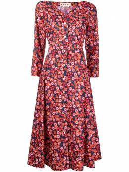 Marni платье-рубашка с цветочным принтом ABMA0668A0UTCZ54