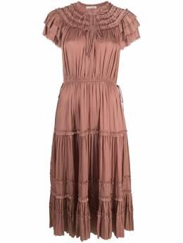 Ulla Johnson ярусное платье миди со сборками PS210147