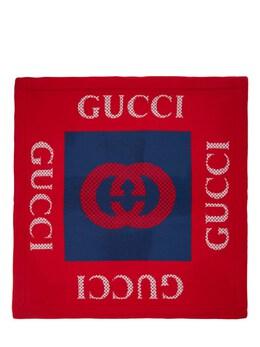 Шерстяной Шарф Логотипом Gucci 73IFHA010-NDI3NA2