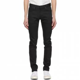 Naked And Famous Denim Black Stretch Super Guy Jeans 013010
