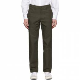 Naked And Famous Denim Khaki Canvas Work Trousers 101143698