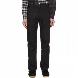 Naked And Famous Denim Black Canvas Work Trousers 101143498
