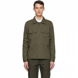 Naked And Famous Denim Green Oxford Work Shirt 120258510