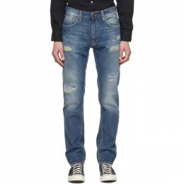 Nudie Jeans Blue Gritty Jackson Jeans 113535