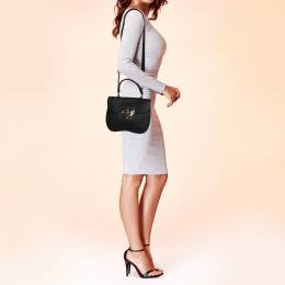Furla Black Leather Ducale Top Handle Bag 373655