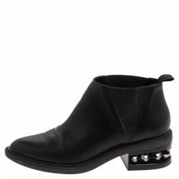 Nicholas Kirkwood Black leather Suzi Studded Ankle Boots Size 39 376078