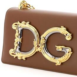 Dolce&Gabbana Brown Leather DG Girls Bag 375409