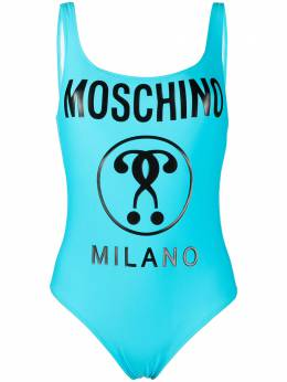 Moschino купальник Double Question Mark A81045211