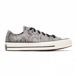 Converse Grey Snake Chuck 70 Ox Low Sneakers 170104C