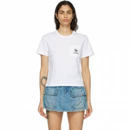 Red Valentino White Flower Pocket T-Shirt VR3MG08K5PM