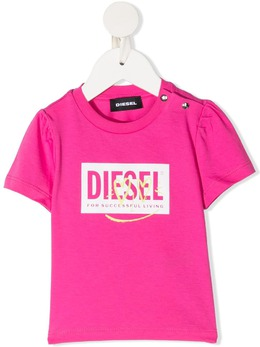 Diesel Kids футболка с застежкой на кнопках и логотипом K0001800YI9