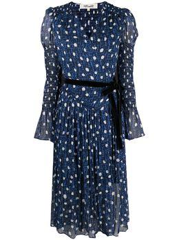 Dvf Diane Von Furstenberg платье с поясом и принтом DVFDW4O017