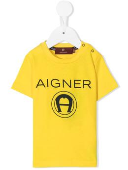 Aigner Kids футболка с логотипом 55207
